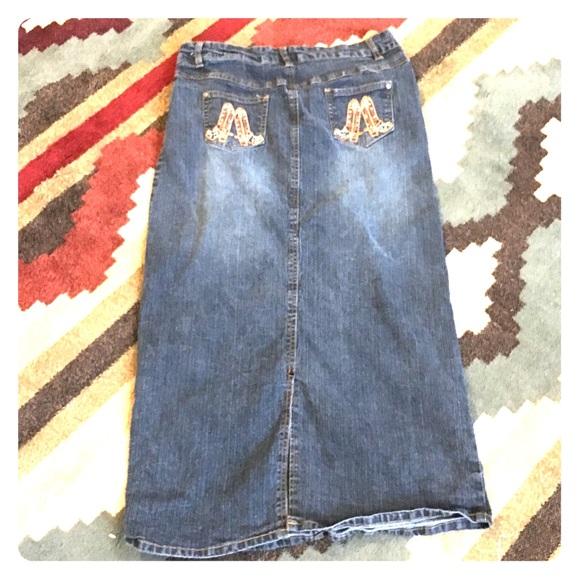 da2c4455ed Cowboy boot denim skirt Jr sz 13 vintage. M_5a4d669061ca10d06902fc5b